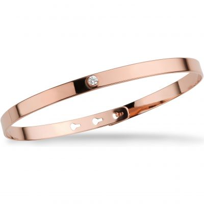 Mya Bay Dam Transparent Stone Bangle Roséguldspläterad JP-01.P