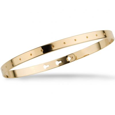 Mya Bay Dam Small Stars Bangle Guldpläterad JC-37.G