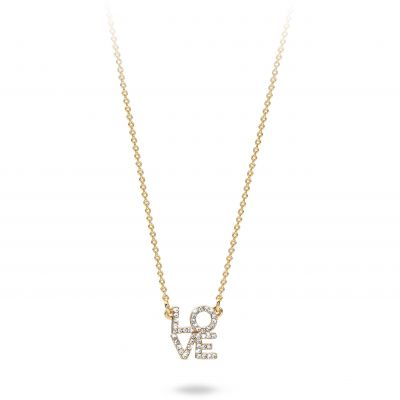 Ladies Mya Bay Gold Plated Love Necklace CO-LO-01.G