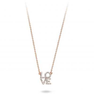 Ladies Mya Bay Rose Gold Plated Love Necklace CO-LO-01.P