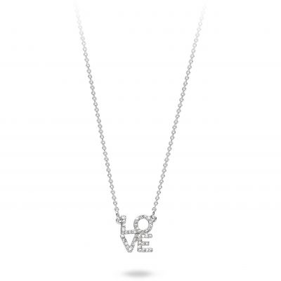 Mya Bay Dam Love Necklace Silverpläterad CO-LO-01.S