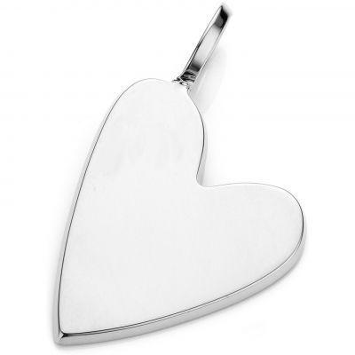 Ladies Mya Bay Silver Plated Big Heart Charm PED-03.S