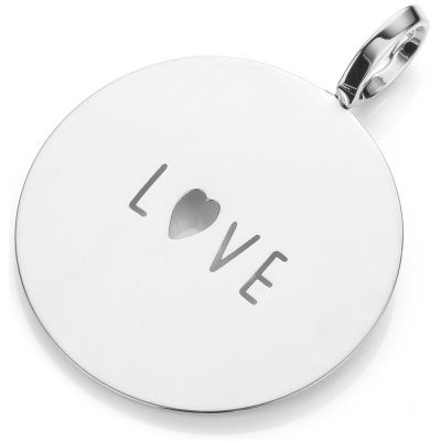 Ladies Mya Bay Silver Plated LOVE Text Medal Charm PME-03.S
