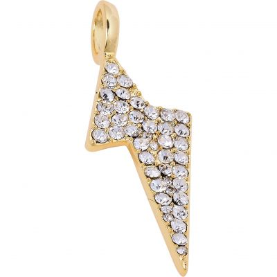 Ladies Mya Bay Gold Plated White Crystal Flash Charm PCO-10