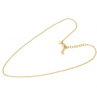 Ladies Mya Bay Gold Plated 38cm Simple Branded Chain Necklace CH-01.G