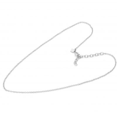 Damen Mya Bay 80cm Simple Branded Kette Halskette versilbert CH-03.S