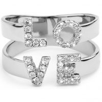 Ladies Mya Bay Silver Plated Love Ring BA-LO-01.S