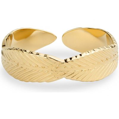 Ladies Mya Bay Gold Plated Leaf Ring BA-FE-01.G