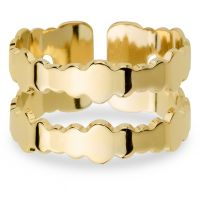 Ladies Mya Bay Gold Plated Double Bubbles Ring BA-BU-02.G