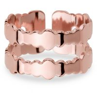 Ladies Mya Bay Rose Gold Plated Double Bubbles Ring BA-BU-02.P
