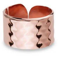 Ladies Mya Bay Rose Gold Plated Hammered Texture Ring BA-GE-02.P