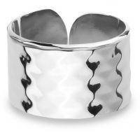 Ladies Mya Bay Silver Plated Hammered Texture Ring BA-GE-02.S