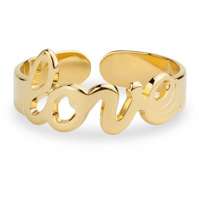 Ladies Mya Bay Gold Plated Love Script Ring BA-22.G