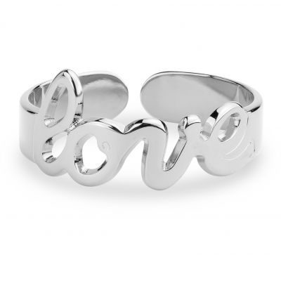 Ladies Mya Bay Silver Plated Love Script Ring BA-22.S