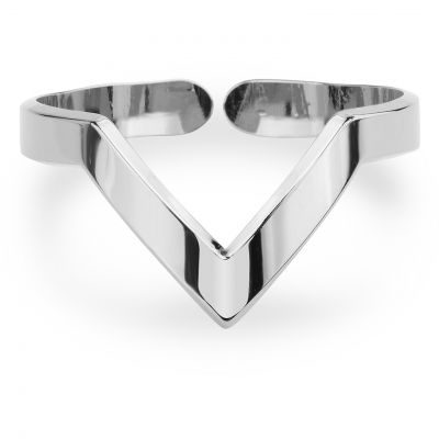 Ladies Mya Bay Silver Plated V Shaped Ring BA-12.S