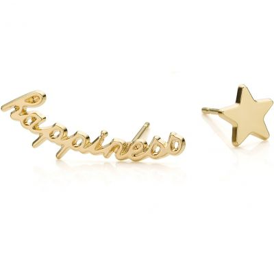 Ladies Mya Bay Gold Plated Happiness & Star Earrings BO-06.G