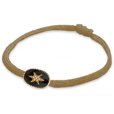 Damen Mya Bay Enamelled North Star Armband vergoldet BR-67.G
