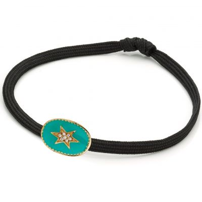 Damen Mya Bay Enamelled North Star Armband vergoldet BR-69.G