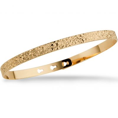 Mya Bay Dam Stitched Texture Bangle Guldpläterad JC-66.G