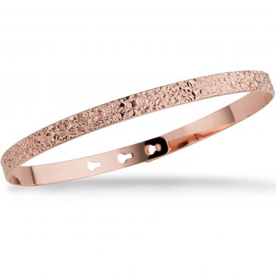 Mya Bay Dam Stitched Texture Bangle Roséguldspläterad JC-66.P
