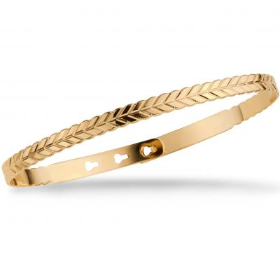 Mya Bay Dames Rope Texture Bangle Verguld goud JC-67.G