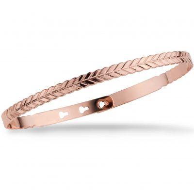 Ladies Mya Bay Rose Gold Plated Rope Texture Bangle JC-67.P