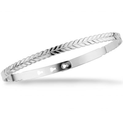 Mya Bay Dam Rope Texture Bangle Silverpläterad JC-67.S