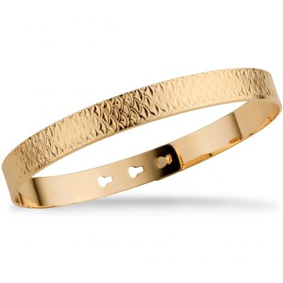 Mya Bay Dam Fish Scale Texture Bangle Guldpläterad JL-17.G