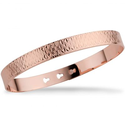Mya Bay Dam Fish Scale Texture Bangle Roséguldspläterad JL-17.P