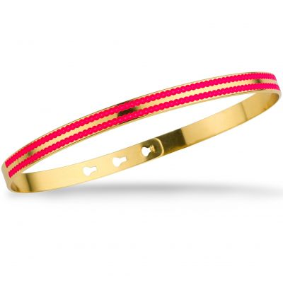 Ladies Mya Bay Gold Plated Beading Lines Bangle JC-72.G