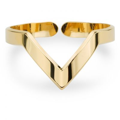 Ladies Mya Bay Gold Plated V Shaped Ring BA-12.G