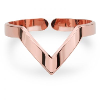Ladies Mya Bay Rose Gold Plated V Shaped Ring BA-12.P