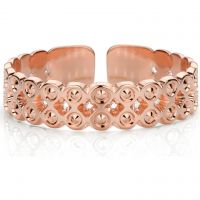Ladies Mya Bay Rose Gold Plated Beaded Bubbles Ring BA-63.P
