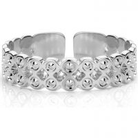 Ladies Mya Bay Silver Plated Beaded Bubbles Ring BA-63.S