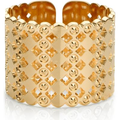 Ladies Mya Bay Gold Plated Large Beaded Bubbles Ring BA-64.G