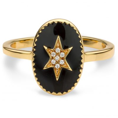 Ladies Mya Bay Gold Plated Enamelled North Star Ring BA-70.G