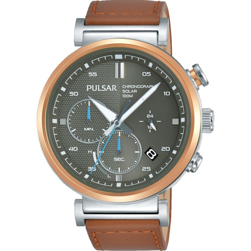 Mens Pulsar Solar Powered Watch PZ5070X1