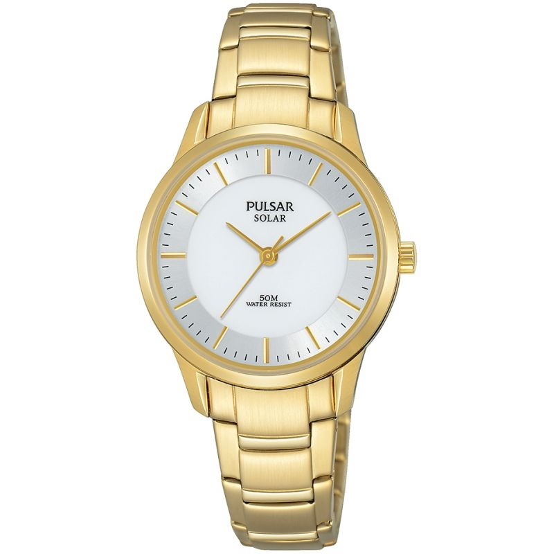 Image of  			   			  			   			  Ladies Pulsar Solar Powered Watch