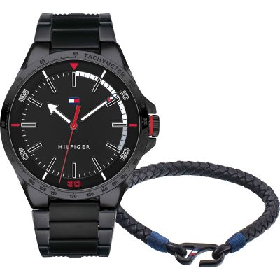 Tommy Hilfiger Gift Set Herrenuhr in Schwarz 2770029