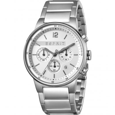 Esprit Equalizer Men's Watch featuring a Stainless Steel Strap and Silver Dial ES1G025M0055