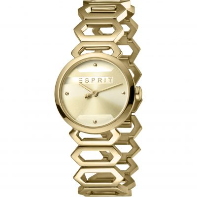 Esprit Arc Women's Watch featuring a Stainless Steel,  Gold Coloured Strap and Champagne Dial ES1L021M0045