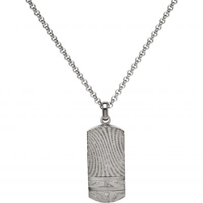 Mens Unique & Co Stainless Steel Tag Necklace AN-79/50CM