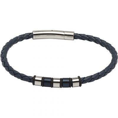 Mens Unique & Co Stainless Steel Bracelet B405BLUE/21CM
