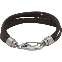 Mens Unique & Co Stainless Steel Layered Effect Bracelet B406DB/21CM