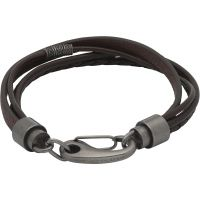 Mens Unique & Co Stainless Steel Layered Effect Bracelet B406ADB/21CM