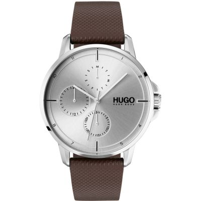 HUGO #FOCUS #Focus Herrenuhr in Braun 1530023