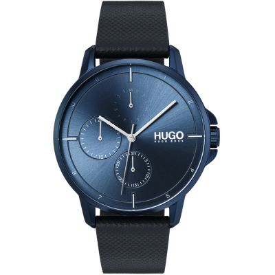 HUGO #FOCUS #Focus Herrenuhr in Blau 1530033