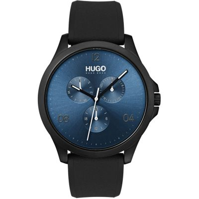 HUGO #RISK #Risk Herrenuhr in Schwarz 1530036