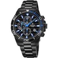 Festina Mens Black PVD-Plated Chrono Watch