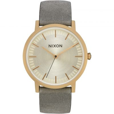 Nixon The Porter Leather Herrklocka A1058-2982